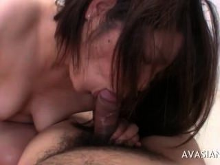 Asian Babe Shows Her Cock Sucking Skills