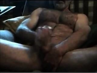 Muscular Hairy Horny Str8 Daddy! Hot Verbal Talkin And Cummin!