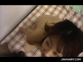 Jap Little Girl Gets Hairy Cunt Toyed And Gives Her First Blowjob