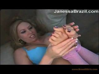 Workout pantyhose feet licking video want