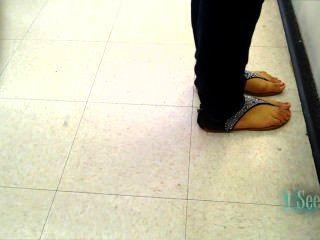 Young Latina Feet Candid
