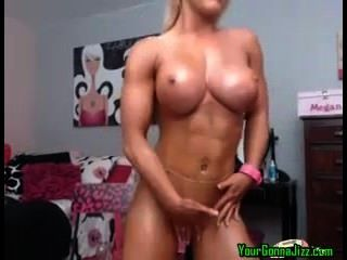 Busty Blonde With 6pack Shows Off