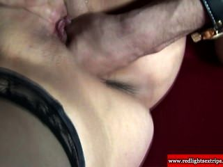 Skanky old prostitute picked up and fucked by two guys 3