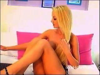 Hot Blonde Teen Fucks Tight Wet Pussy On Webcam