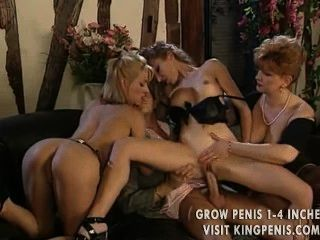 Guy Sits On Couch Never Moves And Fucks 3 Different Chicks