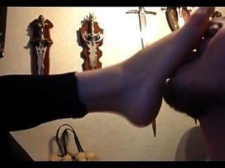 Gothic Girlfriend Foot Love