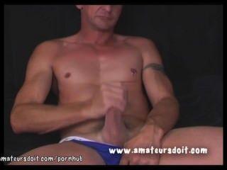 Aussie Hunk Luke Has Piercings On Nipple And Below His Gorgeous Cock