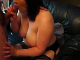 Mature Bbw Wife Sucks A Cock