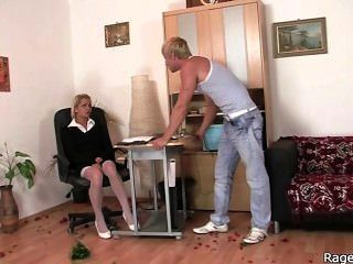 She Takes Rough Fuck Right In The Office