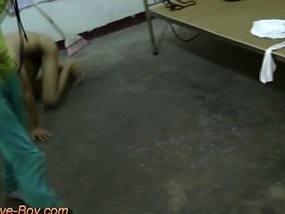 Slim Slave Boy Naked Doggy Trainning