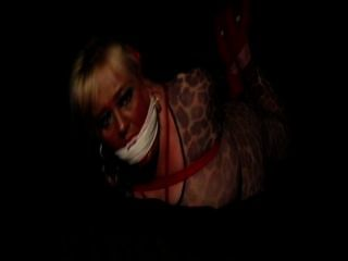 Kitty Body Stocking & Heels Hogtie