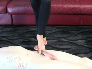 Step Mom Abuses Her Step Son With Rough Footjob