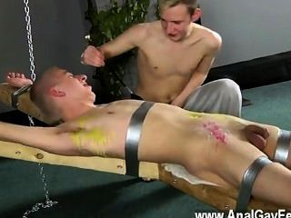 Hardcore Gay Dean Gets Tickled, Torrid Paraffin Wax Poured Over His