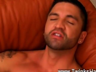 Hot Gay Sex Dominic Works Their Eager Fuckholes Over With His Tongue,