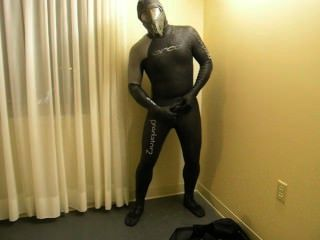 Completing The Transformation As I Change Into Orca Predator Wetsuit